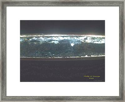 Full Moon Over The New River Donee Framed Print by Phillip H George