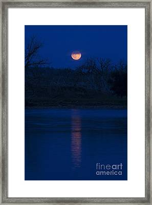 Full Moon Over The Tongue Framed Print