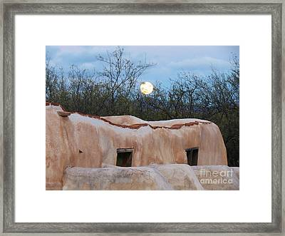 Full Moon Over Tumacacori Framed Print by Feva Fotos