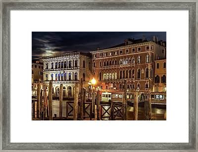 Full Moon Over Venice Framed Print