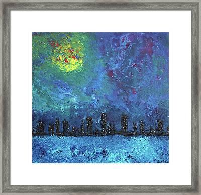 Full Moon Over Watercity Framed Print by Erik Tanghe