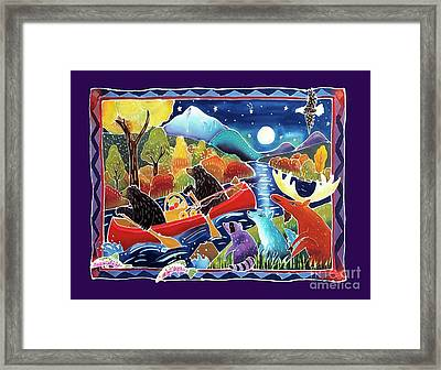 Full Moon Paddle Framed Print by Harriet Peck Taylor