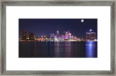 Full Moon Panorama Framed Print by Frozen in Time Fine Art Photography