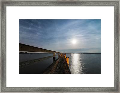 Full Moon Pier Framed Print