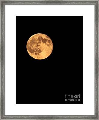 Full Moon Framed Print by Robert Bales