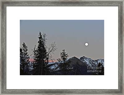 Full Moon Shinning Down Framed Print