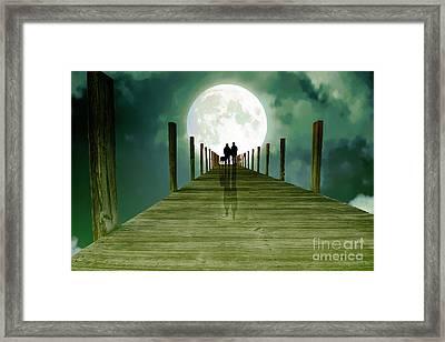 Full Moon Silhouette Framed Print