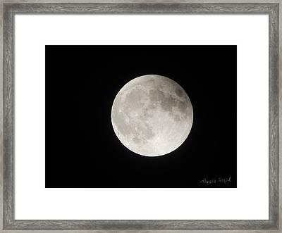 Full Planet Moon Framed Print