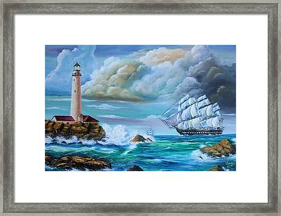 Framed Print featuring the painting Full Sail by Mike Ivey