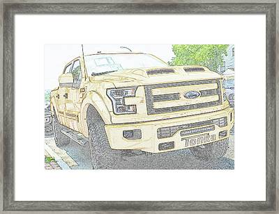 Framed Print featuring the photograph Full Sized Toy Truck by John Schneider