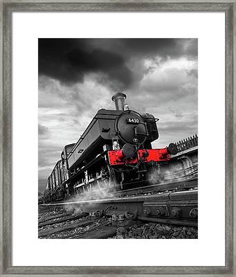 Full Steam Ahead - 6430 Pannier Train Framed Print by Gill Billington