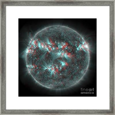 Full Sun With Lots Of Sunspots Framed Print