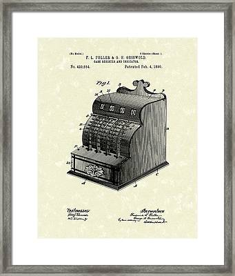 Fuller And Griswold Cash Register 1890 Patent Art Framed Print