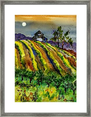 Fullmoon On Westside Framed Print