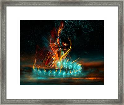 Fully Charged Framed Print by Carmen Hathaway