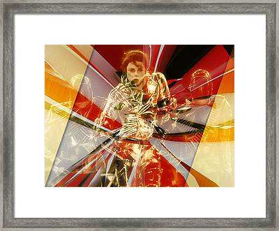 Fully Charged Michael Jackson Framed Print