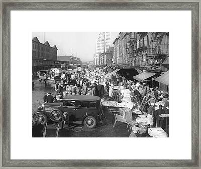 Fulton Fish Market Framed Print by Underwood Archives