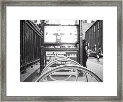 Fulton St Station Framed Print by Jon Woodhams