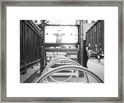 Fulton St Station Framed Print