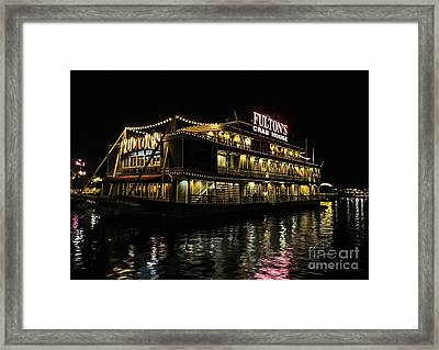 Fulton's Crab House Night Lights Framed Print by Gary Keesler