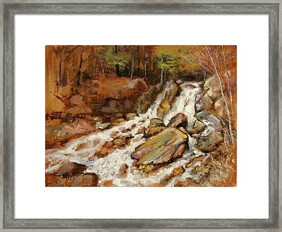 Fumee Falls Quinnessec Mi Framed Print by Larry Seiler