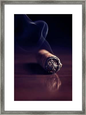 Fuming Havana Cigar 2 Framed Print by Vadim Goodwill