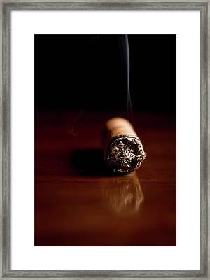 Fuming Havana Cigar  Framed Print by Vadim Goodwill