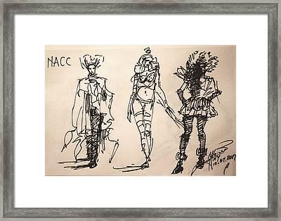 Fun At Art Of Fashion At Nacc Framed Print