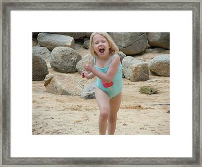 Framed Print featuring the photograph Fun At Tahoe by Dan Whittemore