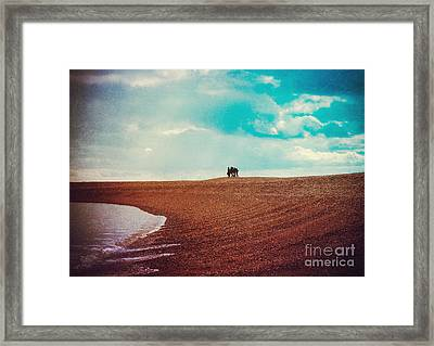 Fun At The Beach Framed Print by Sybille Sterk