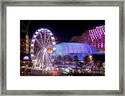 Fun At Vivid Sydney By Kaye Menner Framed Print by Kaye Menner