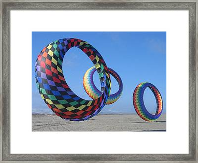 Fun Day At The Beach Framed Print by Barb Morton