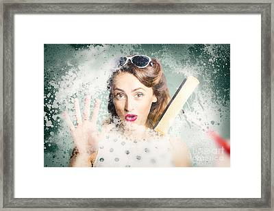 Fun Fifties Housewives Framed Print by Jorgo Photography - Wall Art Gallery