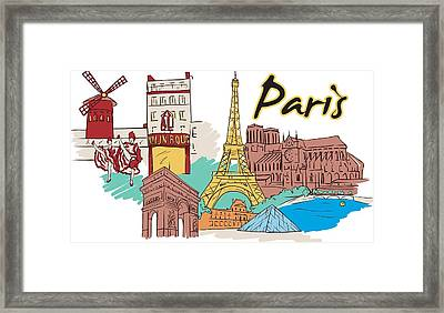 Framed Print featuring the digital art Fun Food And Folly In Paris by Stanley Mathis