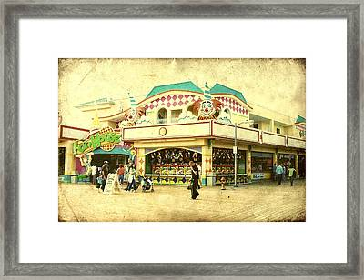 Fun House - Jersey Shore Framed Print by Angie Tirado