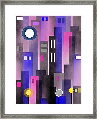 Fun In The City Framed Print