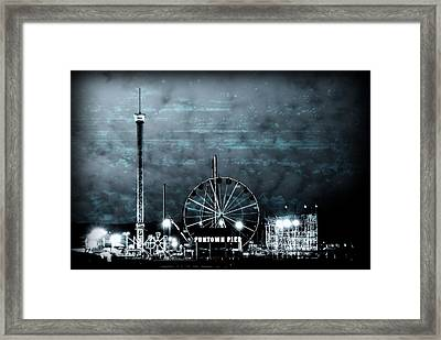 Fun In The Dark - Jersey Shore Framed Print by Angie Tirado