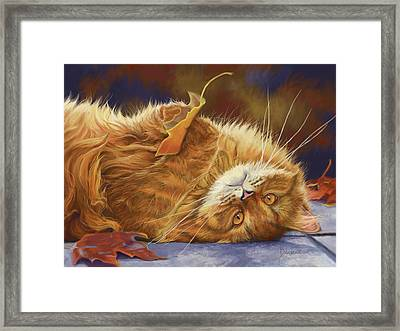 Fun In The Fall Framed Print