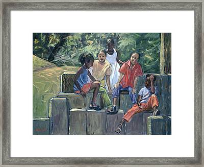 Fun In The Park Framed Print