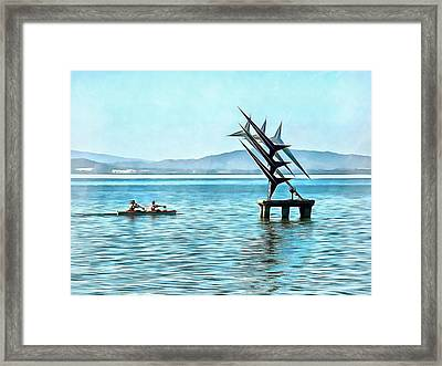 Fun In The Sun At Lago Trasimeno Framed Print by Dorothy Berry-Lound