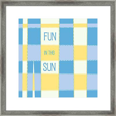 Fun In The Sun Framed Print by Bonnie Bruno