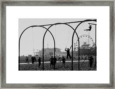 Fun In The Sun Framed Print by Cecil K Brissette