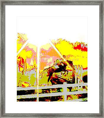 Fun In The Sun Framed Print by Donna Thomas