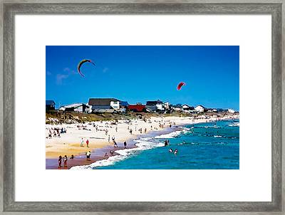 Fun In The Sun Framed Print by John Pagliuca