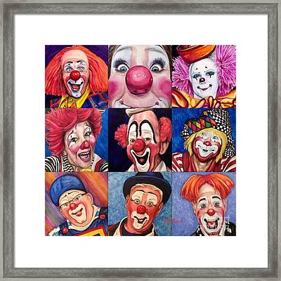Fun Real Clowns Framed Print
