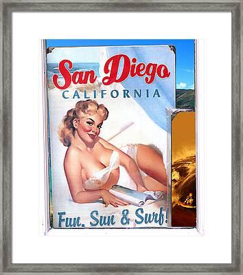 Fun Sun And Surf Framed Print by Ron Regalado