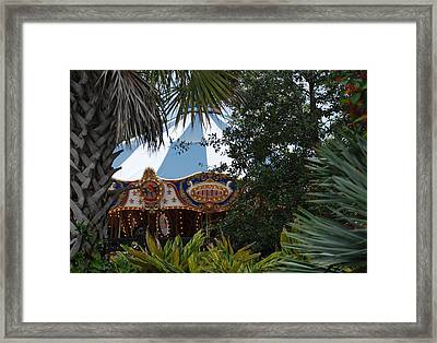 Framed Print featuring the photograph Fun Thru The Trees by Rob Hans