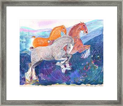 Fun Time Framed Print by Mary Armstrong