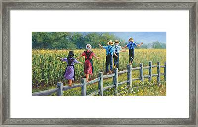 Girls Can To Framed Print by Laurie Hein