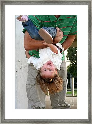 Fun With Daddy Framed Print